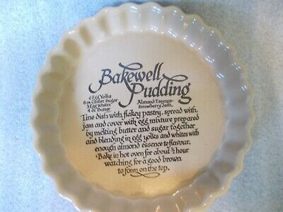 Vintage Country Farmhouse Pearson's Stoneware Bakewell Pudding Pie Dish Unused
