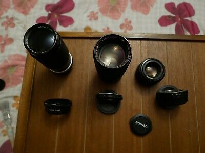 Lenses lot for sale with Sony E mount adapters