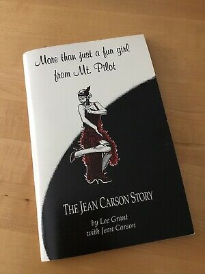 THE JEAN CARSON STORY book AUTOGRAPHED Andy Griffith Show Actress Twilight Zone