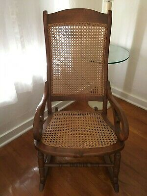 Lincoln Rocker Cane Rocking Chair