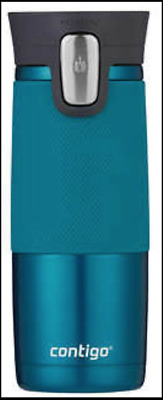 1 TEAL CONTIGO Mug Autoseal Spill Proof Stainless Thermal Travel 473ml 2019 NEW