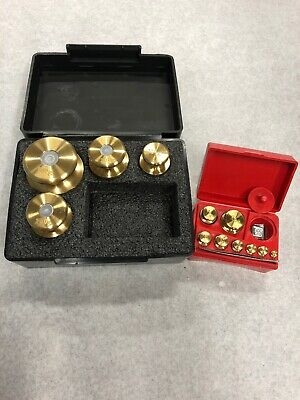 Troemner Calibration Weight Set  12 Brass Weights Total. Very Nice!