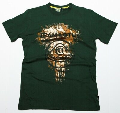 T-SHIRT Tee Formula One 1 Team Lotus F1 NEW! Gold Metallic Print Green