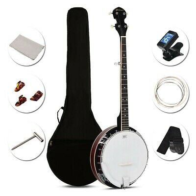 Sonart 5 String Geared Tunable Banjo with case-Student Banjo Kit-Starter Kit