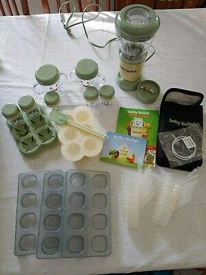 BABY BULLET organic food blender storage trays containers CARRYING CASE EXTRAS