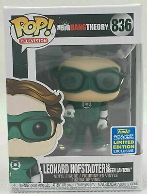 2019 SDCC Funko Pop! The Big Bang Theory #836 Leonard Hofstadter-Green Lantern