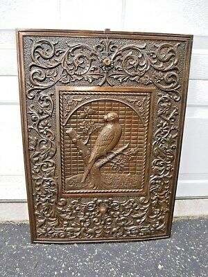 """Antique Cast Iron Fireplace Surround Summer Cover Ornate """"FREE"""" Shipping"""