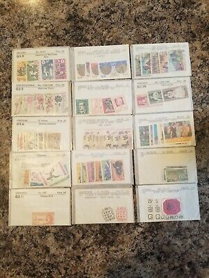 Vintage Stamp Lot No - US, 30 Envelopes of Collections, Some Full &/or Mint