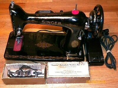 Restored 1941 Singer 66 Sewing Machine w/ Non-Chrome Finish Parts - Sews Well