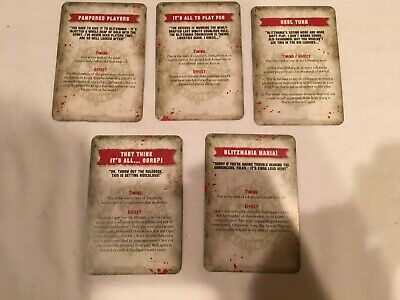 Blood Bowl Blitzmania Special Play Cards All 5 New OOP Games Workshop