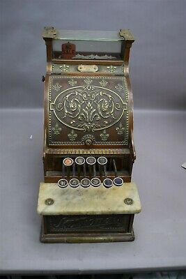 Antique National Brass Cash Register 216 Candy Store Soda Fountain