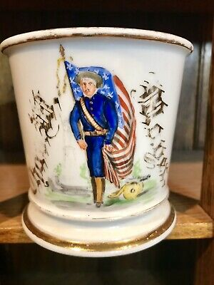 Antique Military Occupational Shaving Mug Circa 1900 American Soldier