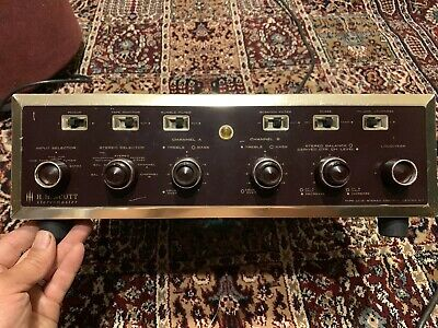 Rare HH Scott LC-21 Tube Preamp Preamplifier Control Amplifier With Rebuild Kit