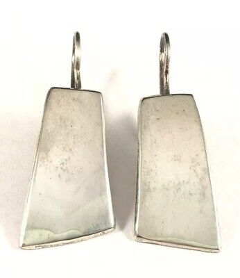 Fun Vintage Mexico Designer Sterling Silver 925 Handcrafted Modernist Earrings!