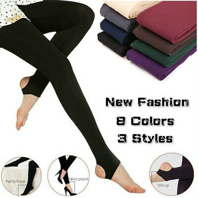 AM/_ WOMEN/'S THERMAL LEGGINGS STRETCHY WINTER WARM SUPER THICK FOOT PANTS NICE