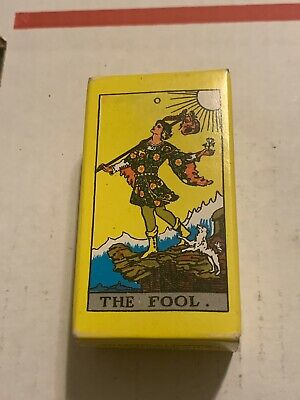 Vintage 1971 Miniature Rider Waite Tarot Cards  Sample Deck from US Games