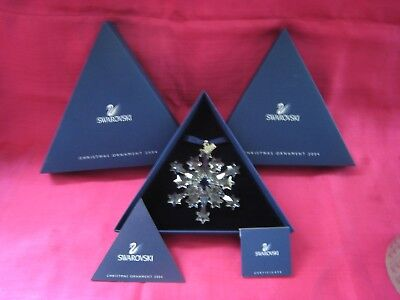 Swarovski Crystal 2004  Large Annual Christmas Ornament.  MINT NEVER DISPLAYED