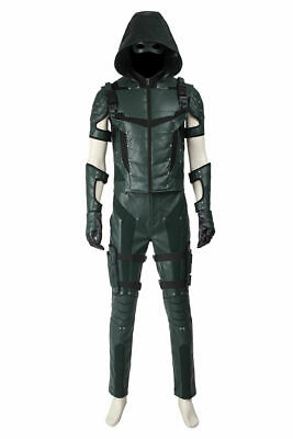 Green Arrow Season 4 Oliver Queen Uniform Outfits Cosplay Costume Halloween