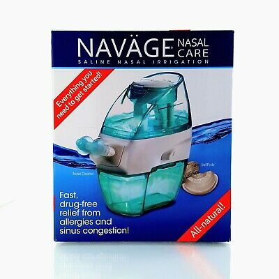 Navage Nasal Irrigation Basic Bundle: Navage Nose Cleaner and 18 SaltPods NEW