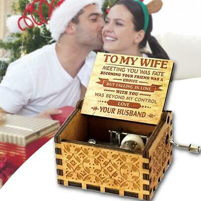 HusbandTo My Wife - You Are Loved More Than You Know Engraved Music Box