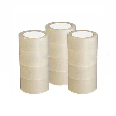 """36 ROLL CLEAR CARTON SEALING PACKING SHIPPING TAPE 2.7 MIL 1.8"""" 60 Yard 180' FT"""