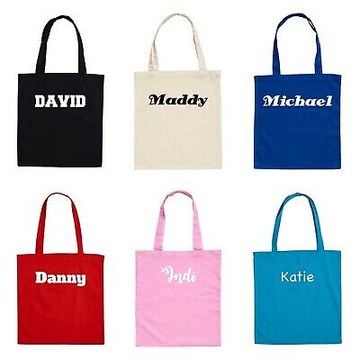 Personalised KIDS Cotton Library Bags