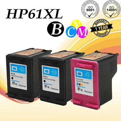 3 Combo Ink Cartridges for HP 61XL ENVY 4500 4501 4502 4504 4505 5530 5535 5539