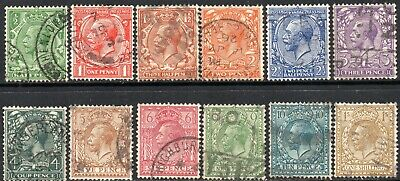 1924-26 Sg 418/29 KGV Block Cypher Good Used Set of 12 Values