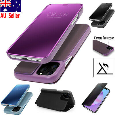 Luxury Leather Smart Full Mirror Flip Stand Case Cover Fr iPhone 11 Pro Max 2019