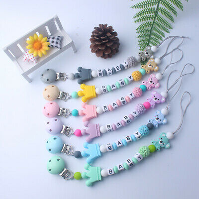 Baby Teething Pacifiers Chain Nipple Feeding Pacifier Clip Soother Beaded
