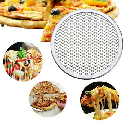 "10-16"" Pizza Screen Pan Mesh Plates Tray Net Aluminium Kitchen Tools Seamless"
