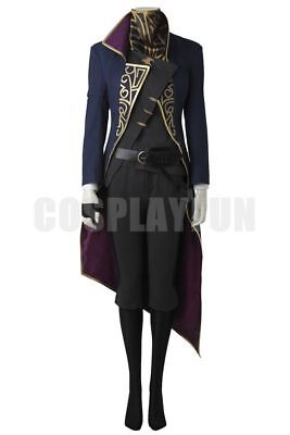 Game Dishonored 2 Emily Kaldwin Fancy Outfits Cosplay Costume Halloween Tailored