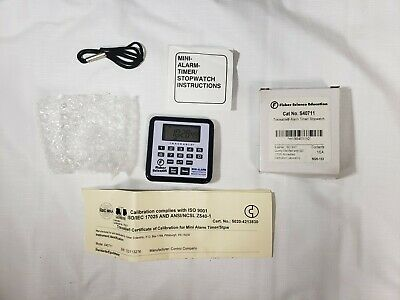 Fisher Scientific Education Traceable Alarm Timer Stopwatch  S40711 5020-133