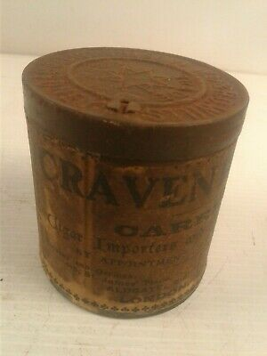 Vintage Craven  WD & HO Wills tobacco tin paper label cigar & sniff manufactures