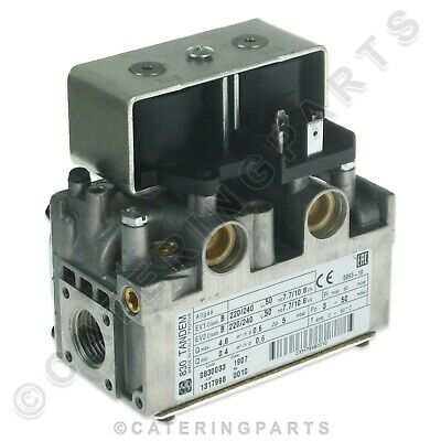 """Sit Tandem Gas Valve 0.830.033 Dual Double Twin Coil 230V 1/2"""" In Out Combi Oven"""
