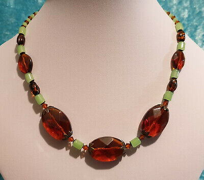 Vintage Art Deco Style Czech Glass Bead Necklace