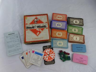 Waddingtons Monopoly, game WW2 austerity version,boxed, no board.