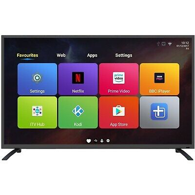 electriQ 55 Inch Android Smart 4K Ultra HD LED TV WiFi Freeview HD 3 HDMI