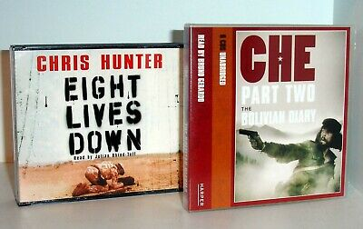 CHRIS HUNTER Eight Lives Down & CHE GUEVARA Bolivian Diary - 2 CD Audio Books