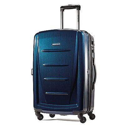 "Samsonite Luggage Winfield 2 Fashion HS 24"" spinner deep blue 56845-1277"