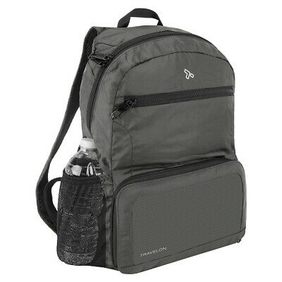 Travelon Anti Theft Active Packable Backpack Charcoal 43207-530