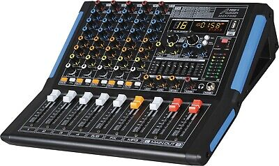 Audio2000s AMX7332 6-Ch.Audio Mixer Sound Board with USB &  DSP Sound Effects-MR