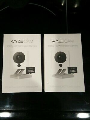 2 x PACK  Wyze Cam V2 HD  Smart Home Camera w/Night Vision & 32GB MMC