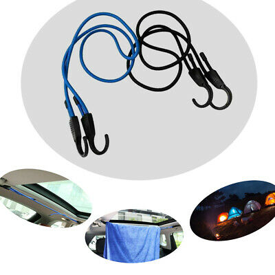 Magic/&shell Adjustable Bungee Cord 59-Inch Blue Adjustable Stretch Car Clothesline With Wide Opening Hooks for Cars Motorcycle Bikes Baggage