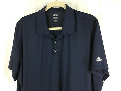 adidas Puremotion Mens Blue White 3 Stripe Short Sleeve Polo Golf Shirt 4XL