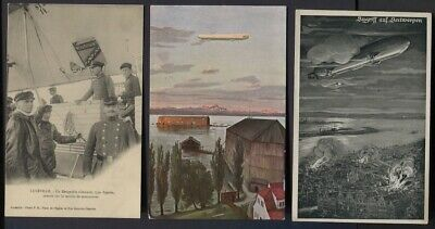 Germany WWI - 6 Zeppelin / Airship Themed Unused Post Cards