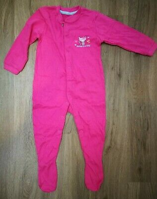 NEW Early Days Perfect Kitty Girls Pink Sleep Suit 9-12 Months 80cm Cotton