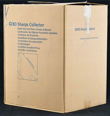 NEW 24x BD 305488 3.1L/3.3QT Sharps Disposal Biohazard Waste Collector Container