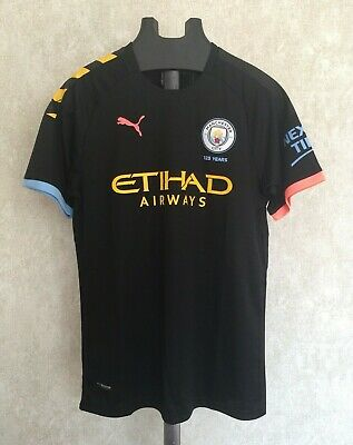 * RRP: £65 * - Manchester City Man City Away Black Shirt 2019/20 Football Mens L