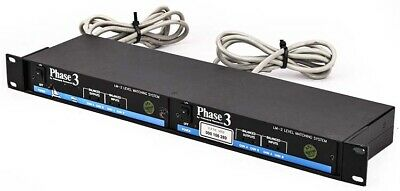 2x Videoquip Research LM-2 Phase 3 Level Matching System 1U Rackmount